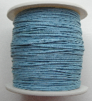 1mm Cotton Cord in light blue. Price per 10 metres