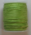 1mm Cotton Cord in lime. Price per 10 metres