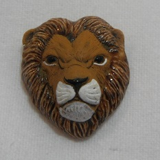 Peruvian Animal Bead - Lion Head