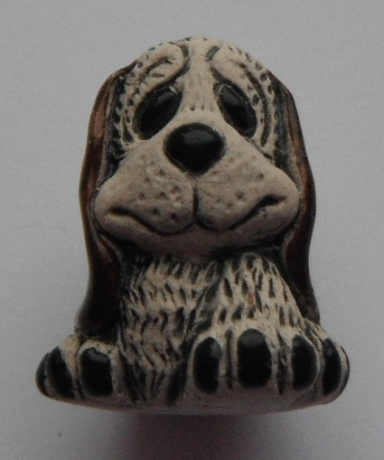 Pruvian Animal Bead - Puppy dog (ear colour varies)