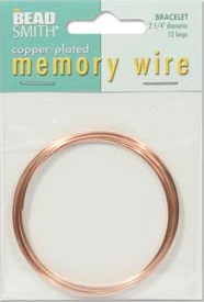 2.25 inch Copper Plated Memory Wire 12 Coils