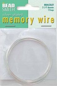 2.25 inch Silver Plated Memory Wire 12 Coils