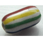 Peruvian Hand Painted Ceramic Bead - Narrow Oval 01