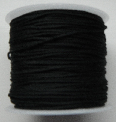1mm Nylon Cord in black. Price per 40 metre roll