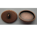 10x14mm Copper Plated Patera Oval Brass Button Bezel