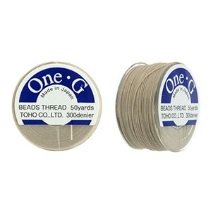 50 yard reel TOHO One G Thread Beige