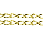 CHFGLNF04 Gold Colour Lead and Nickel Free Chain per Metre