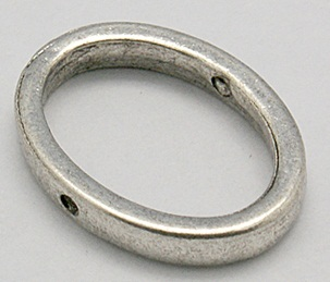 Oval Link 2 Antique Silver Colour 14mm Oval shape