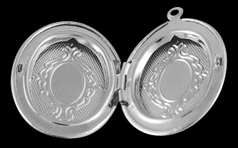 33mm Silver Colour Oval Locket Number 1 Nickel Free