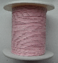 1mm Cotton Cord in pale pink. Price per 10 metres