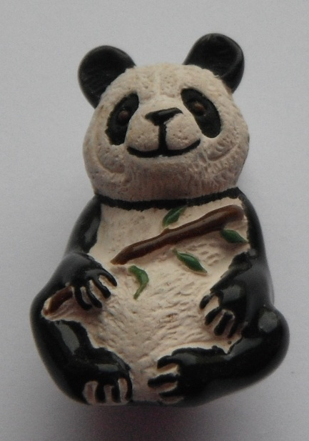 Peruvian Animal Bead - Panda with Bamboo