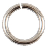 8mm Patera .999 Sterling Silver Plated Brass Jump Rings 10 pack