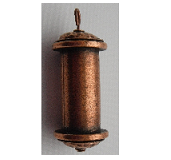 30mm Copper Plated Patera Pendant with 21mm Channel