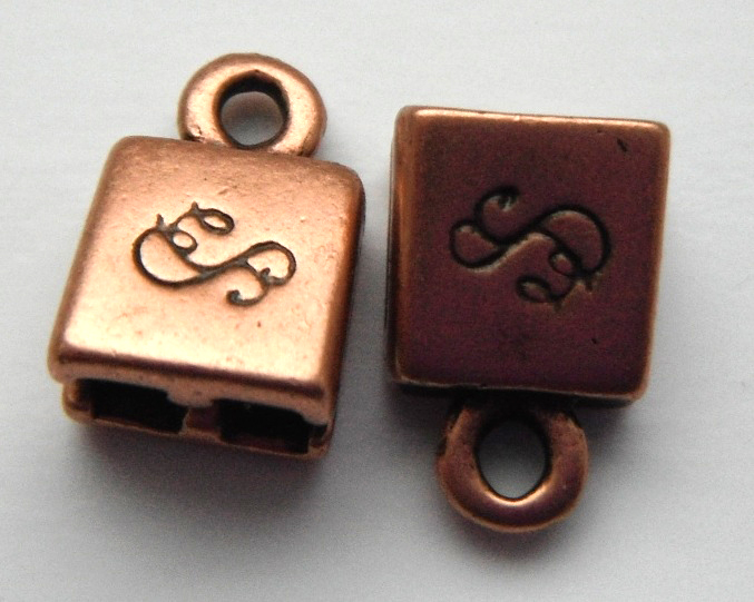 Double Strand antique copper plated pewter.Sold per pair