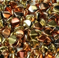 10g 5x3mm Czech Pinch Beads Jet California Gold Rush 23980 98542