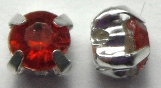 4.5 mm Montees with Red Acrylic Rhinestones 6 pack