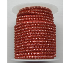 Red wire over 2mm Silver Plated bead chain  Price per 10cm