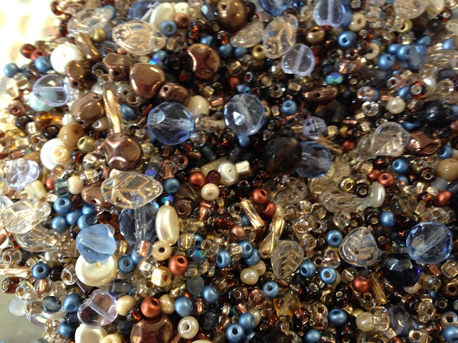 A 25 gram mix of assorted Czech glass beads, Treasure