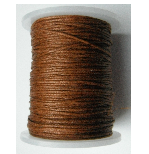 1mm Cotton Cord in sienna. Price per 10 metres