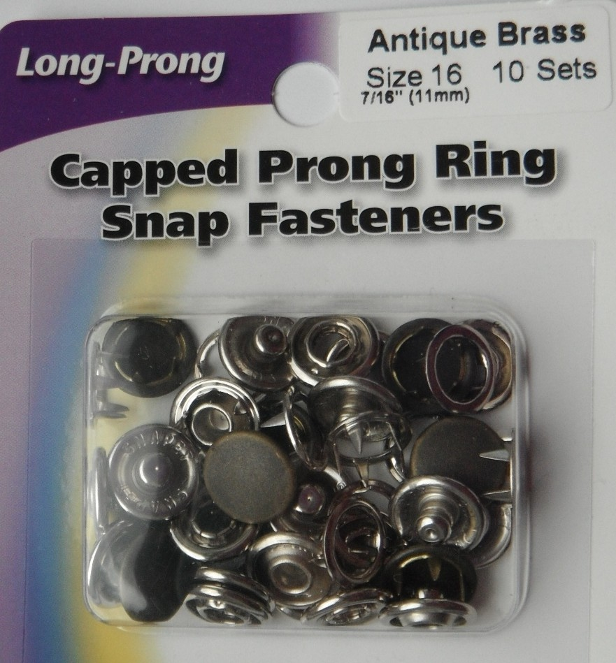 11mm capped snap fasteners  10 Sets Antique Brass