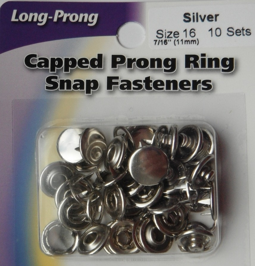 11mm capped snap fasteners Tool 10 Sets  Silver