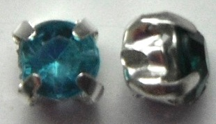 4.5 mm Montees with Sky Blue Acrylic Rhinestones 6 pack