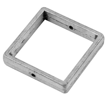 Square Link 3 Antique Silver 20mm Lead and Nickel Free Square