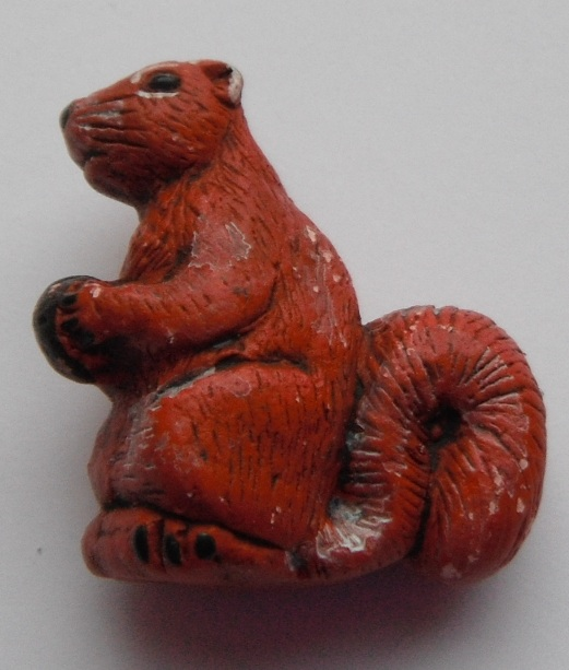 Peruvian Animal Bead - Red Squirrel