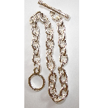 .999 S. Silver Plated 7.5 inch Patera Heavy Plain Link Chain