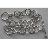 .999 S. Silver Plated 8 inch Patera Medium Twisted Link Chain