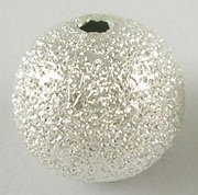 4 mm Brass Stardust Beads Silver colour