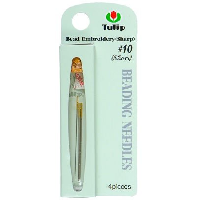 4 Pack Size 10 Short Tulip Beading Needles