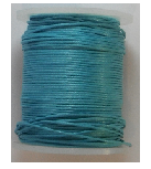 1mm Cotton Cord in turquoise. Price per 10 metres