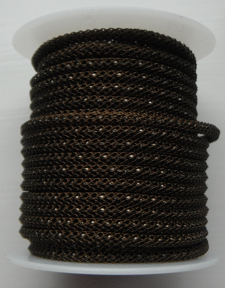 Vintage Bronze wire over 2 mm Gunmetal chain Price per 10cm