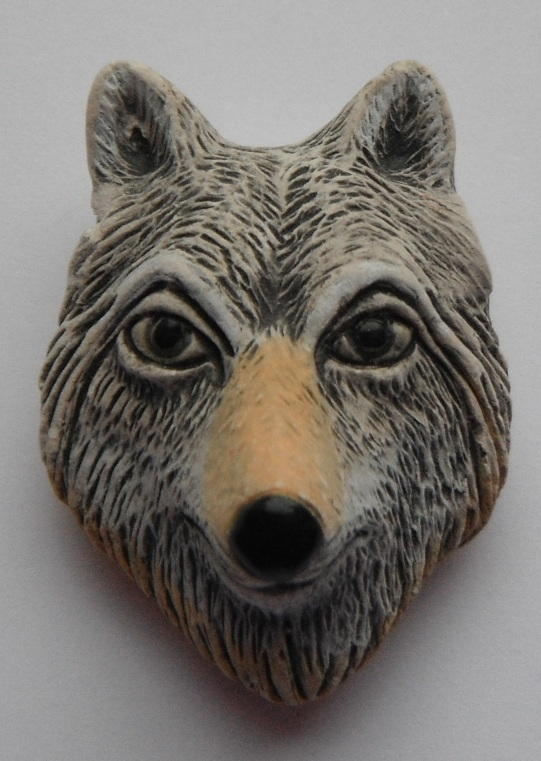 Peruvian Animal Bead - Wolf Head