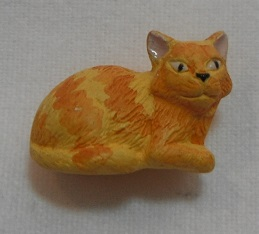 Peruvian Animal Bead - Yellow cat