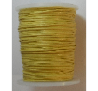 1mm Cotton Cord in yellow. Price per 10 metres