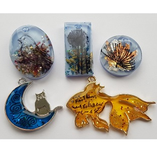 Saturday 13th July, 10 am - 4 pm, Resin Jewellery 2