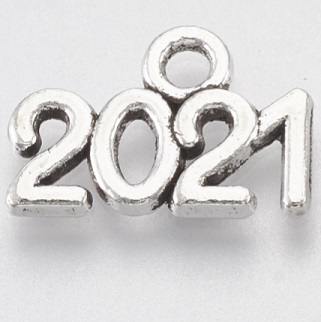 13.5mm antique silver 2021  charm