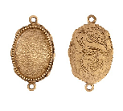 15x18mm 24K Gold Plated Patera Ornate Double Oval Bezel 2 pack