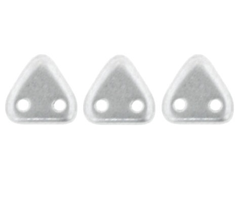 CzechMates Triangles 10 grams Matte Metallic Silver K0170