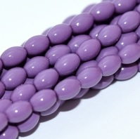 50 Czech Rice Pearls 6 x 4 mm Hollyhock Purple 48227