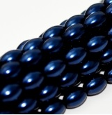 50 Czech Rice Pearls 6 x 4 mm Royal Blue 48375