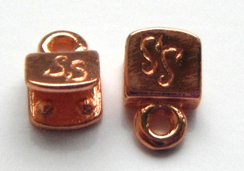 5mm copper plated brass end caps.Sold per pair