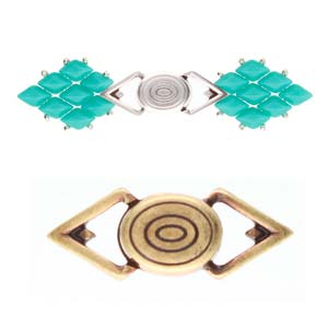 Cymbal Elements Gyalos GemDuo Magnetic Clasp A Brass Plate