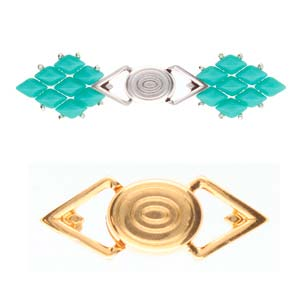 Cymbal Elements Gyalos GemDuo Magnetic Clasp 24K Gold Plate