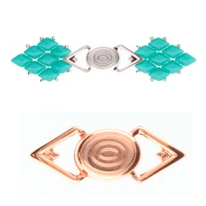 Cymbal Elements Gyalos GemDuo Magnetic Clasp Rose Gold Plate