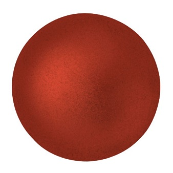 25mm Cabochon par Puca Red Metallic Matte 03000 01890