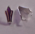 10mm Sterling Silver Fluted Pinch Bail 2 pack