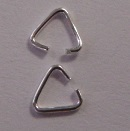 Sterling Silver Triangular Wire Bail 5 pairs.